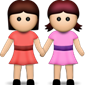 Two girls holding hands