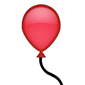 Single red balloon