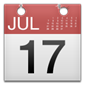 Calendar with July 17th