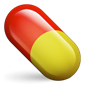 Red and yellow pill