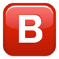 Capital letter, blood type B