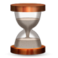 Hourglass with sand